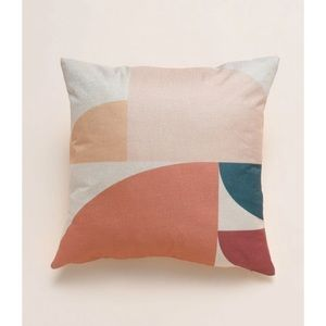"""Other - Blush/Coral Colorblock 18"""" Accent Pillow Cover"""